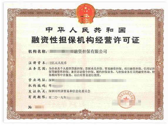 内蒙古出售融资担保