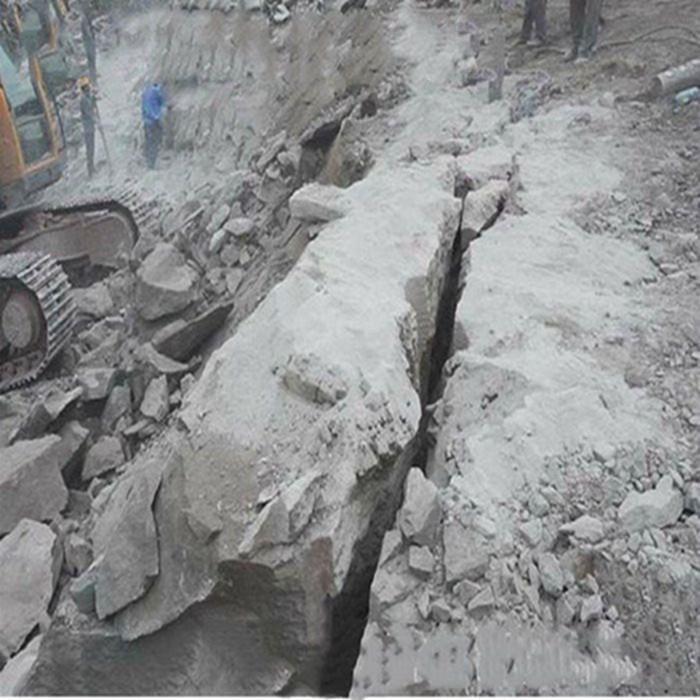 丽水岩石分裂棒劈石机