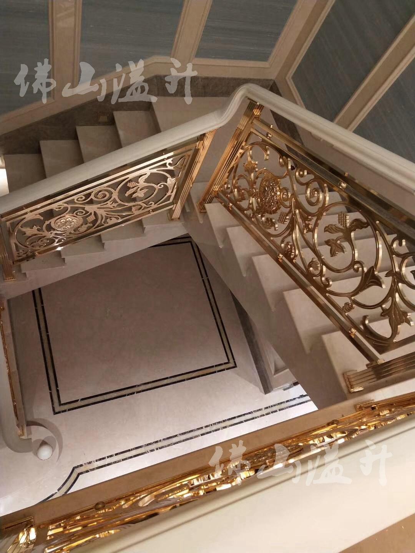 南通款式别墅铜艺楼梯扶手