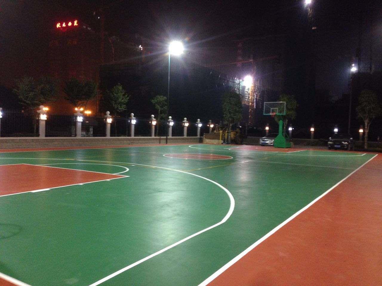 彩色篮球场地面材料的名称