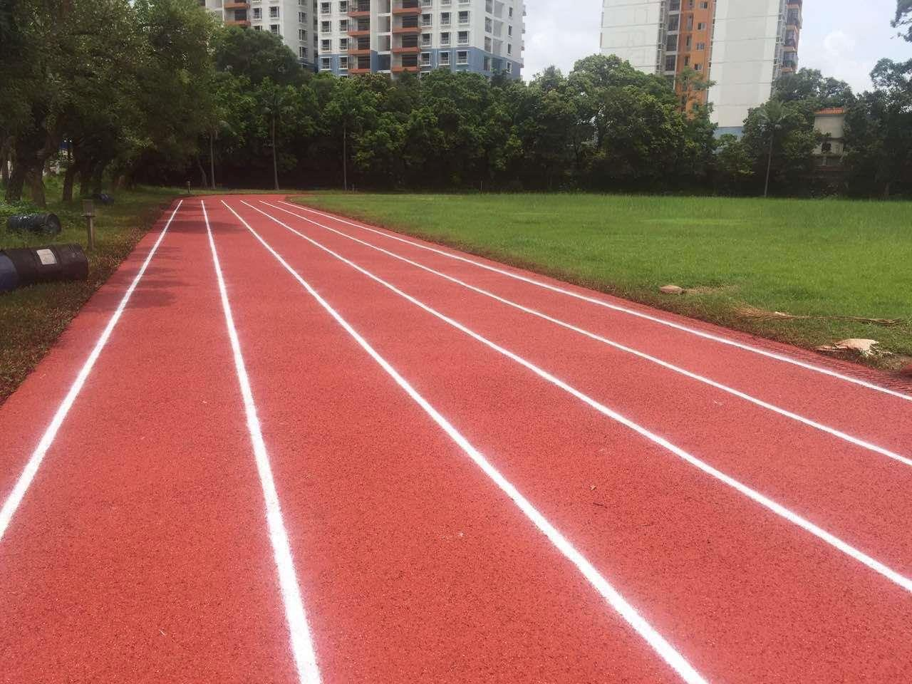 柳州市三江全塑型塑胶跑道跑道