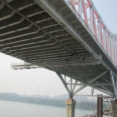 桥底检查小车施工视频