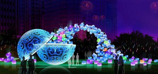 大型灯光节展示中国的文化实力