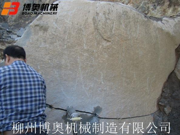 包头液压岩石劈裂机