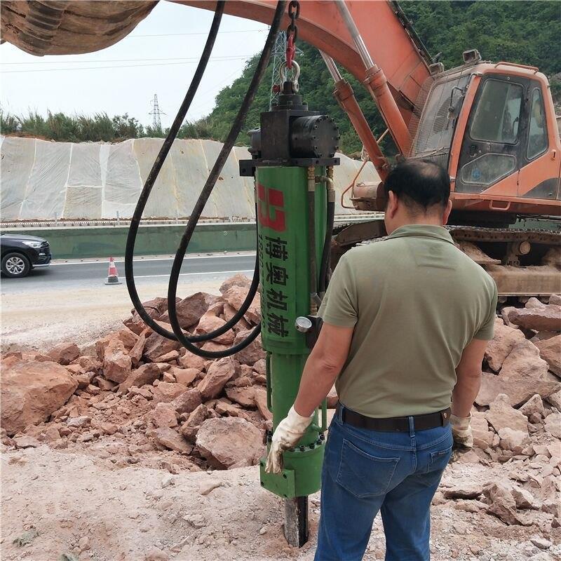 半自动液压岩石劈裂机生产