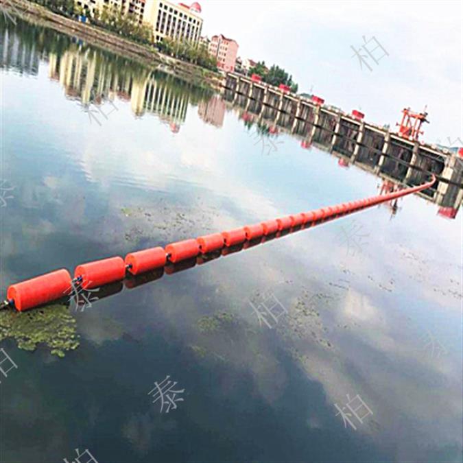 柏泰拦污浮体临盆厂家 20公分塑料浮筒