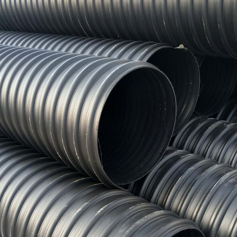 河南聚乙烯HDPE钢带管图片