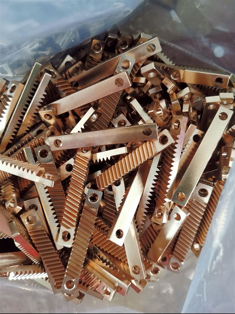 烟台显微镜小模数黄铜滑台齿条定做