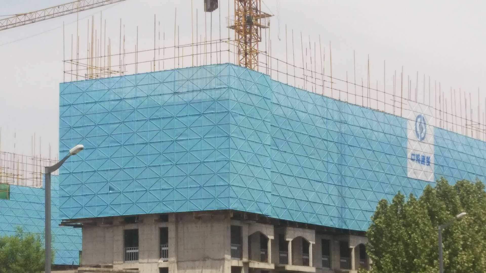 蓝色建筑外墙防护网加工厂