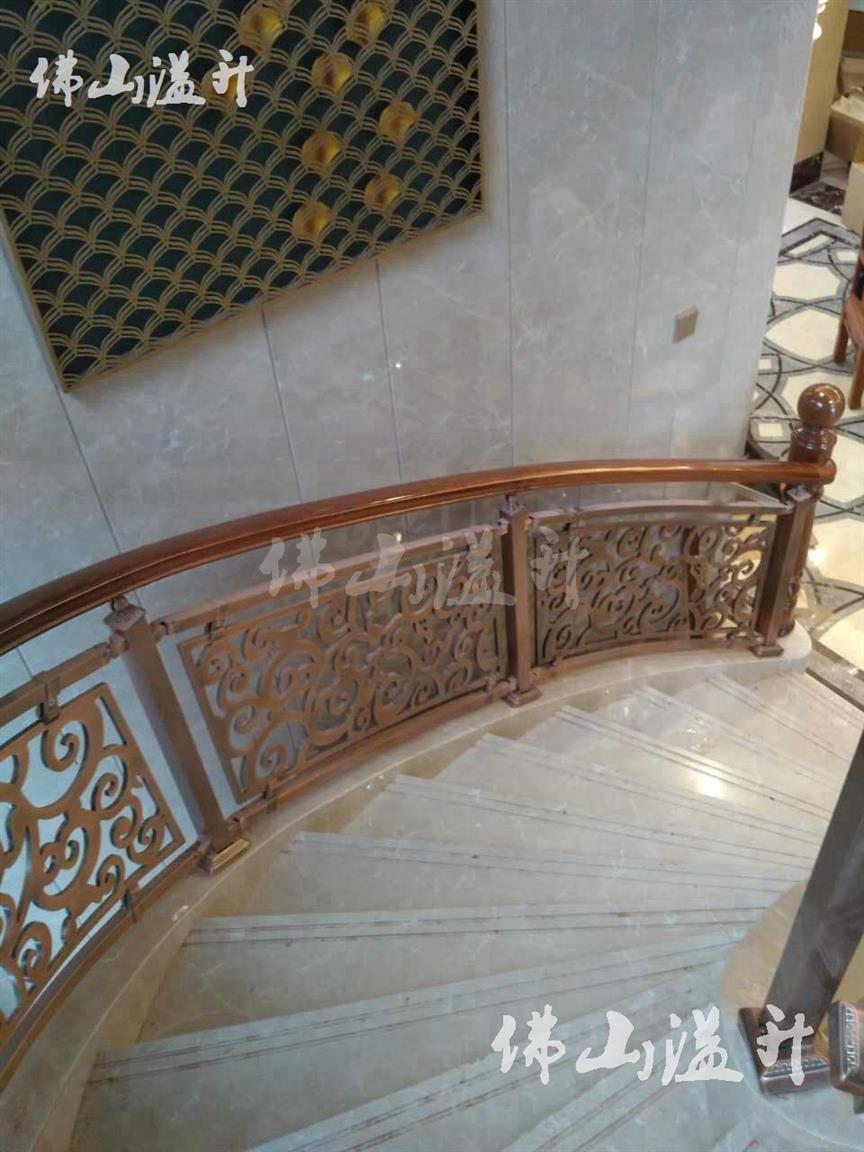 信阳华丽铜艺不锈钢楼梯扶手厂