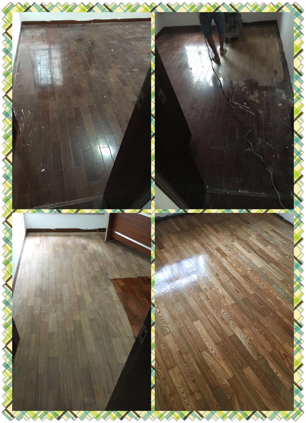 坂田木地板翻新刷漆