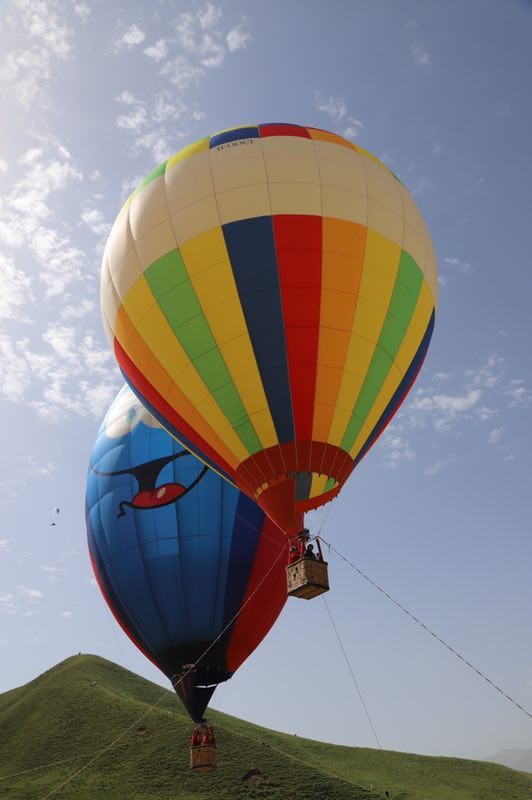 阿里网红载人热气球飞行体验自由飞行