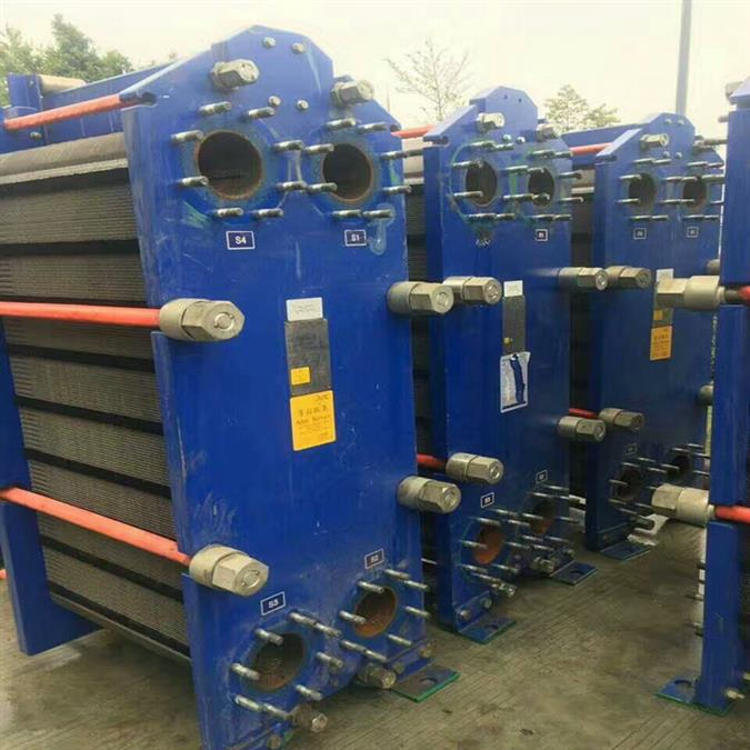 二手180平方全焊接板式换热器厂家直销