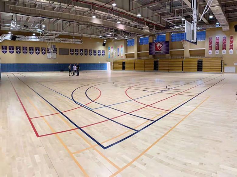 体育馆木地板 体育馆实木地板 性能稳定 安全环保