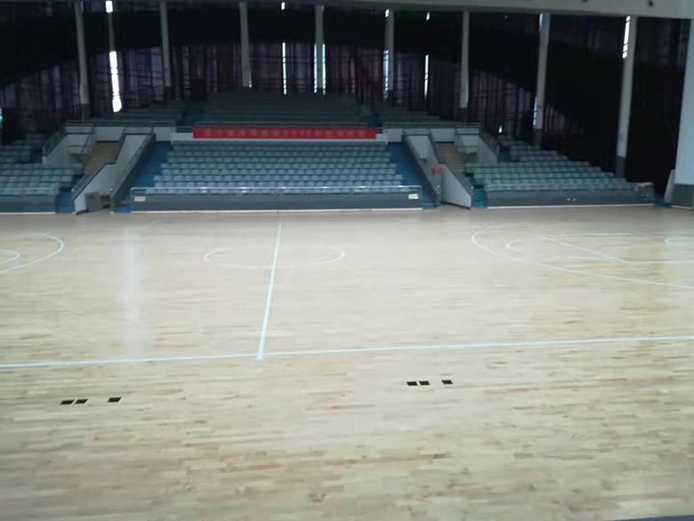 阿坝橡胶木运动木地板 篮球馆橡胶木木地板 产量大 寿命长