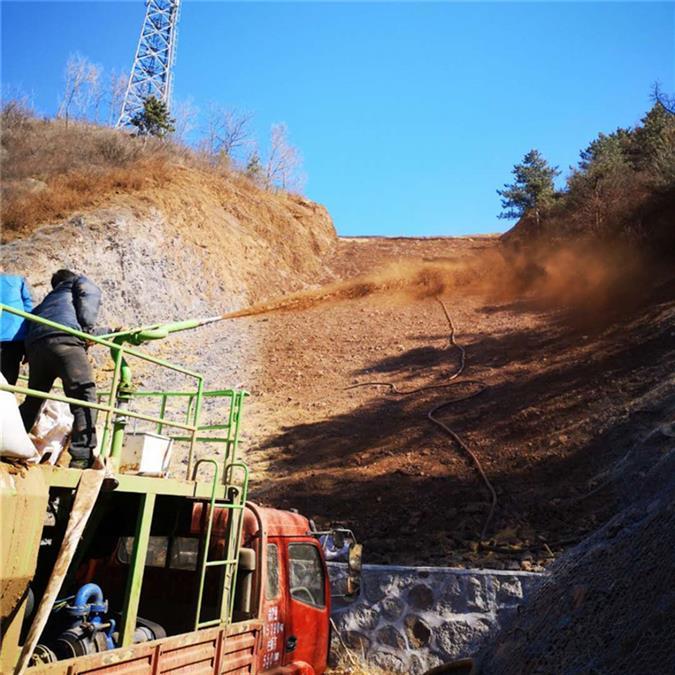 吉林客土喷播报价 山体植被修复绿化 喷播植草厂家